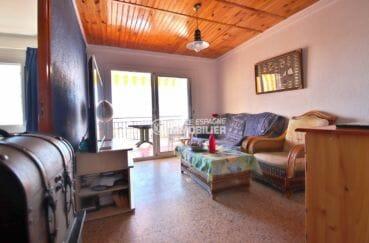 agence immobiliere costa brava: appartement 43 m², salon / séjour accès à la terrasse