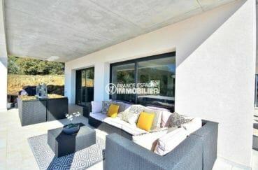 vente maison rosas espagne, construction nouvelle, terrasse 24 m² couverte