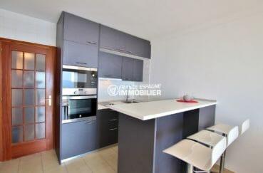 appartement rosas vente, 39 m², cuisine américaine équipée