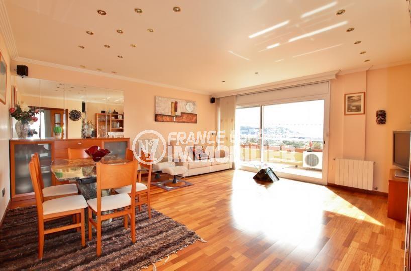vente maison rosas espagne, secteur résidentiel, salon / salle à manger accès terrasse