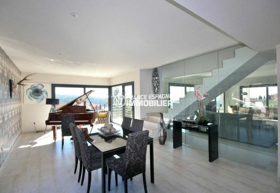 vente immobilier rosas espagne: villa 330 m² construit, coin salle à manger avec accès terrasse
