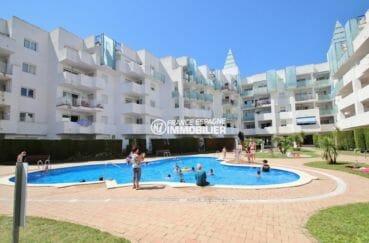 appartement rosas vente, 50 m², résidence avec piscine communautaire