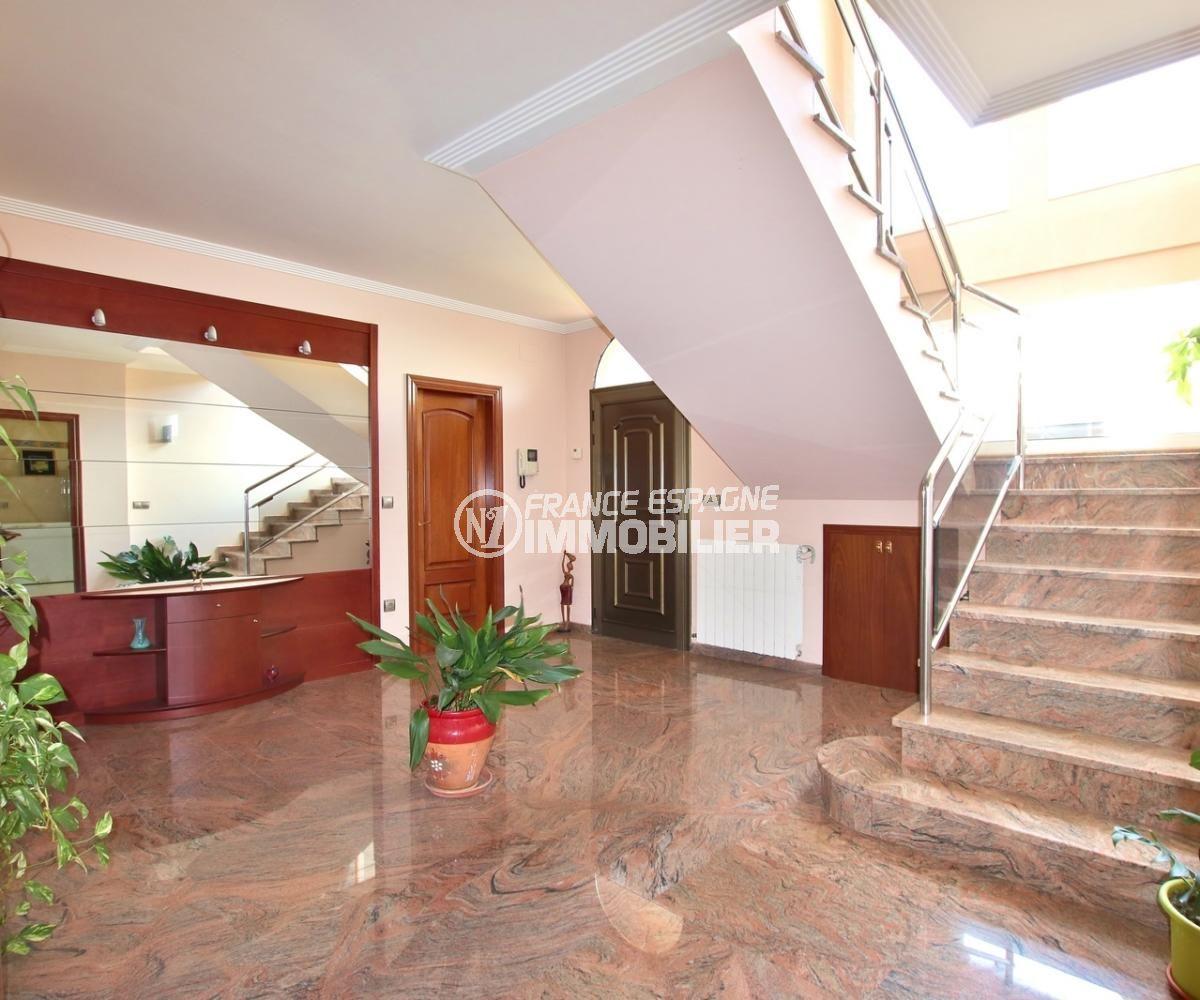 ventes immobilieres rosas espagne: villa 358 m², hall d'entrée avec escalier