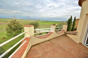 vente immobiliere costa brava: villa 143 m², belle vue depuis la terrasse de la chambre 3