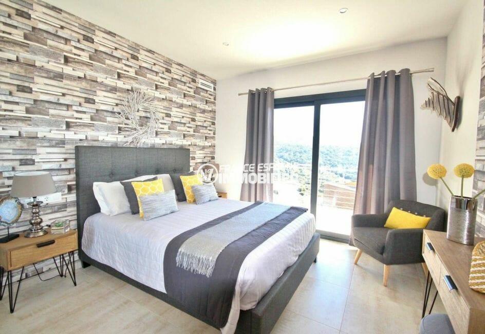 immo center rosas: villa 330 m² construit, troisième chambre avec lit double