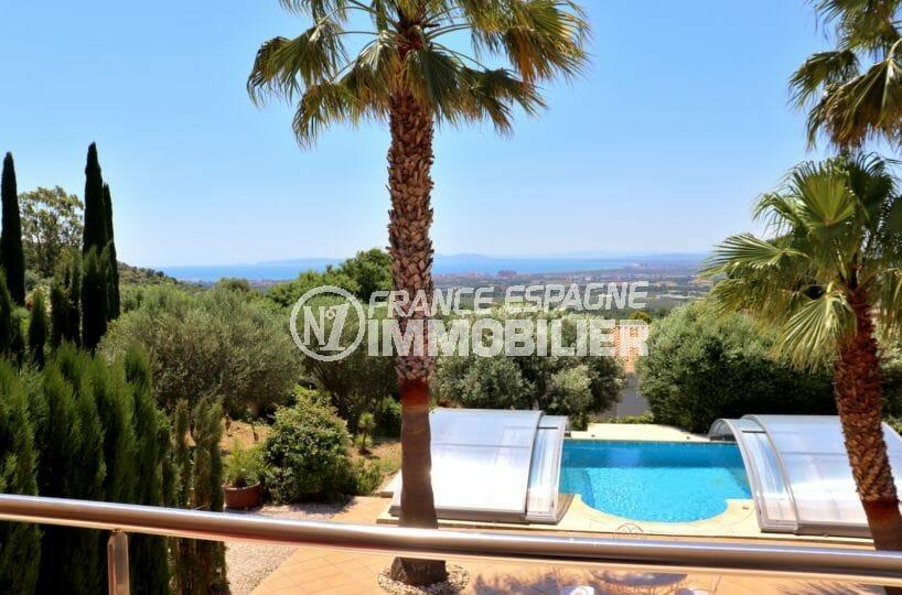 agence immobiliere costa brava: belle villa vue mer avec piscine à palau, ref.3930