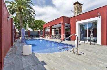 agence immobiliere costa brava: villa 149 m², aperçu piscine & jacuzzi terrasse accès salon