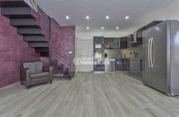 maison à vendre à empuriabrava, parking, cuisine américaine ouverte sur le salon / séjour