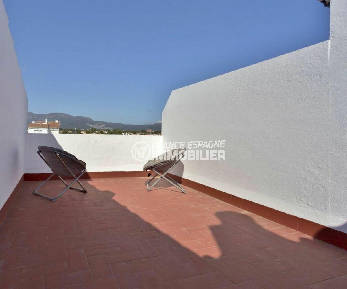 vente immobilière costa brava: appartement 72 m², terrasse solarium avec accès chambre