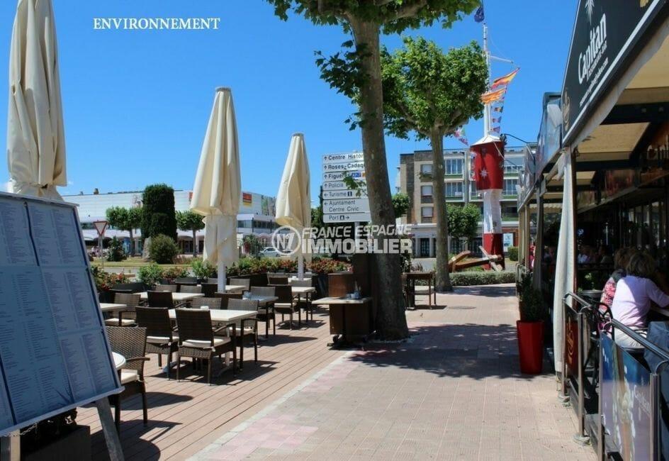 terrasses de restaurants plage aux alentours