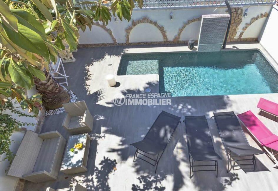 vente maison espagne costa brava, secteur prisé empuriabrava, terrain de 260 m² avec piscine