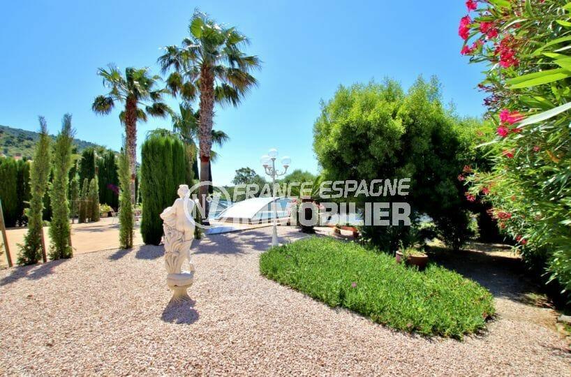costa brava house: villa ref.3930, jardin 1364 m² arboré avec pisicne couverte et chauffée