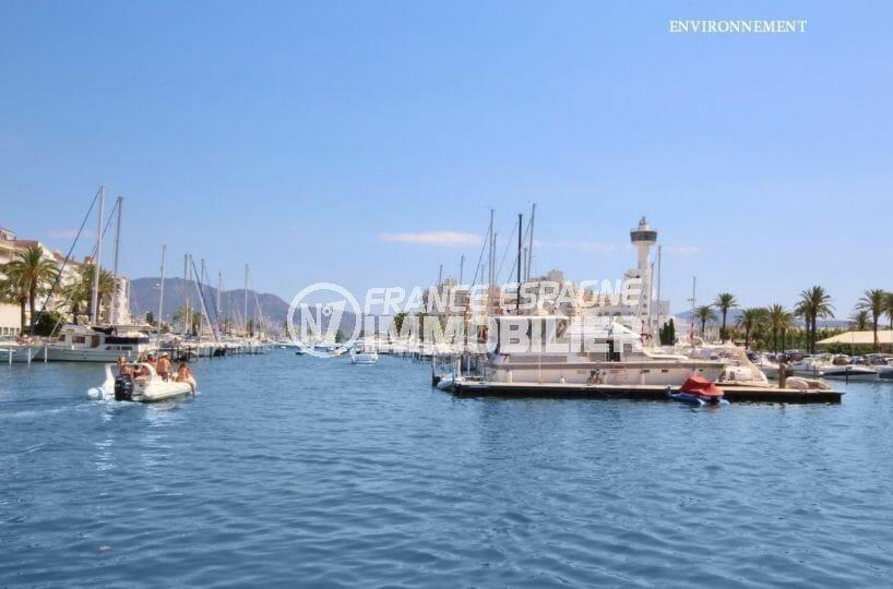 port de plaisance avec flux important de voiliers