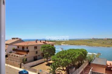 immo rosas: studio bon investissement, vue mer  canal, résidence avec piscine