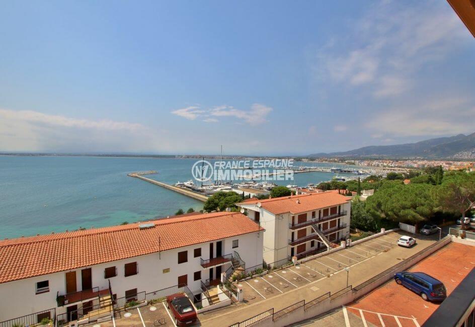 appartement a vendre rosas, vue mer, vue sur la mer depuis la terrasse
