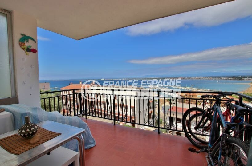 appartement a vendre rosas, 87 m², aperçu de la terrasse de 10 m² belle vue mer