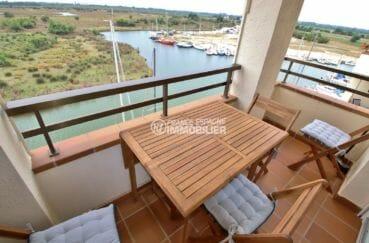 immobilier rosas: appartement atico rénové vue canal, possibilité amarre et garage