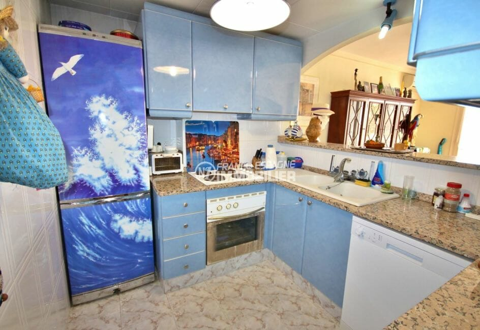 acheter appartement empuriabrava, 97 m², cuisine américaine équipée avec rangements
