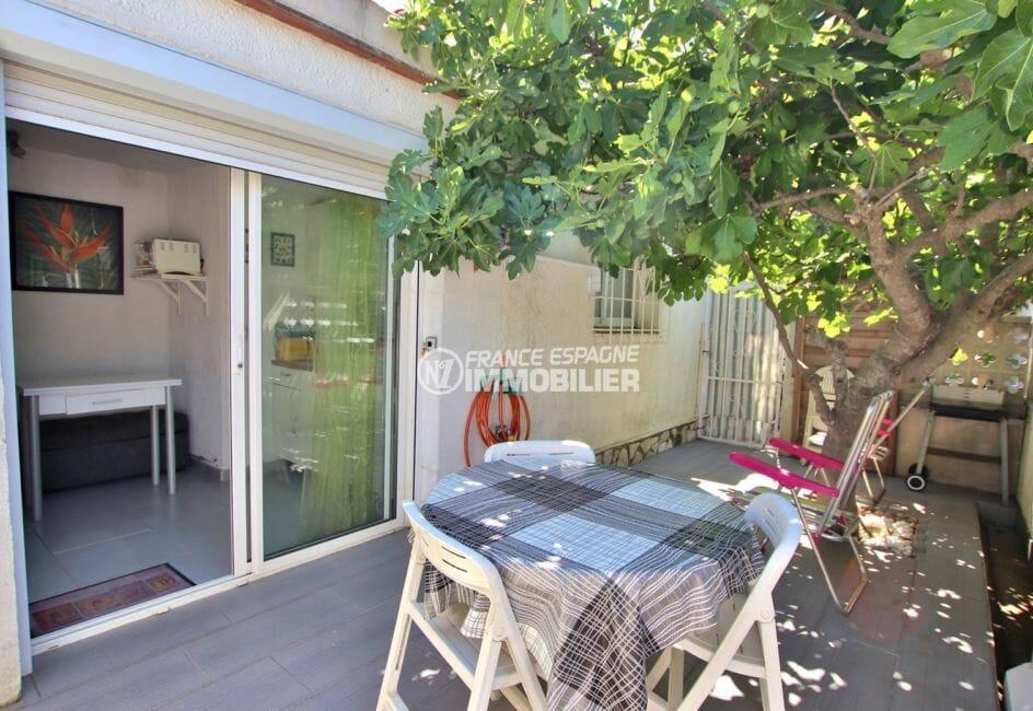 agence immobiliere costa brava espagne: villa 81 m², terrasse appartement indépendant accès salon