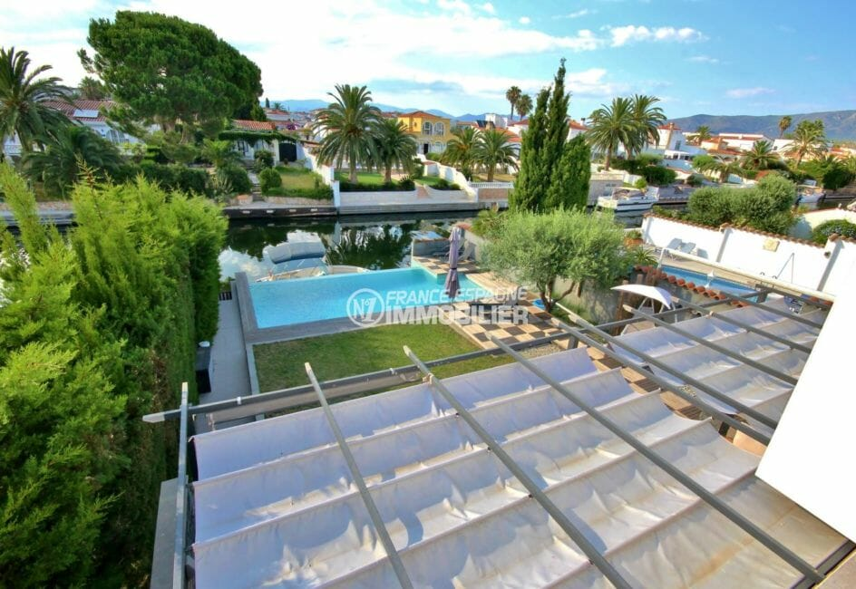 vente immobilière costa brava: villa 179 m², vue sur la piscine et l'amarre