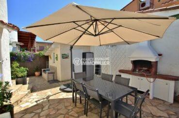 vente immobiliere costa brava: villa 81 m², terrasse avec barbecue sur terrain de 201 m²