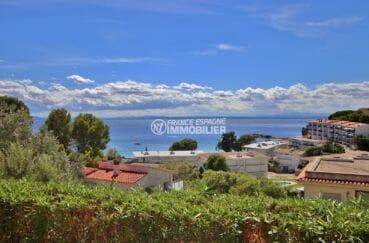 appartement a vendre rosas, proche plage, magnifique vue mer depuis la terrasse de 12 m²