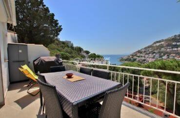 maison a vendre rosas, 127 m² construit, terrasse avec magnifique vue mer, 300 m de la plage
