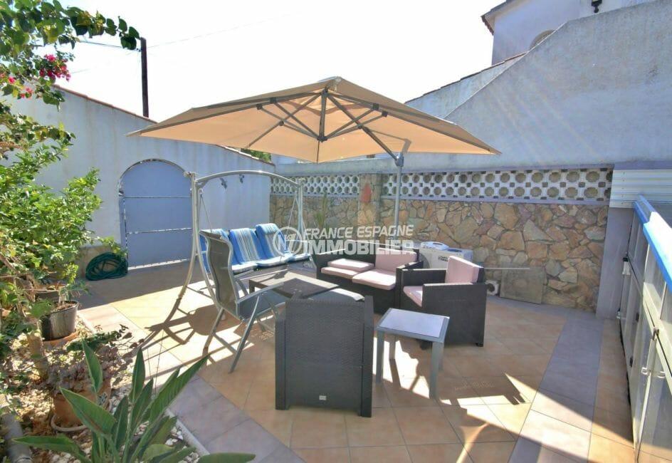 acheter maison costa brava: villa 104 m², deuxième terrasse coin détente aménagé