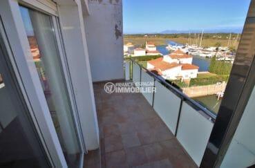 achat appartement rosas, atico, terrasse de 12 m² vue dégagée sur la marina