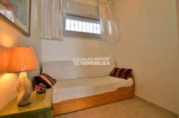 achat appartement rosas, vue mer, deuxième chambre avec lit convertible