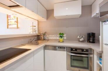 vente appartements rosas espagne, 50 m², cuisine américaine équipée avec rangements