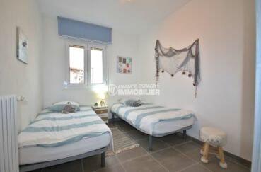 appartement rosas vente, cave, troisième chambre avec 2 lits simples