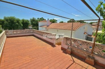 agence empuriabrava: villa 94 m², aperçu de la terrasse solarium vue dégagée
