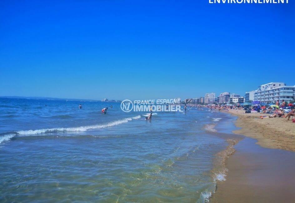 vue sur la plage, proche commerces aux environs