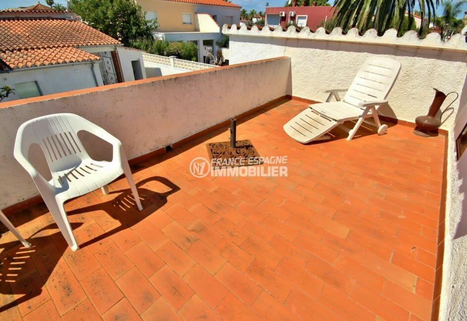 vente immobiliere costa brava: villa 171 m², terrasse solaruim vue dégagée