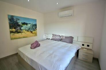 maison a vendre espagne catalogne, rosas, troisième chambre avec grand lit et rangements
