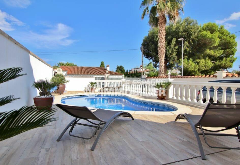 maison a vendre empuriabrava, secteur prisé, terrain de 300 m² avec piscine de 8 mx 4 m