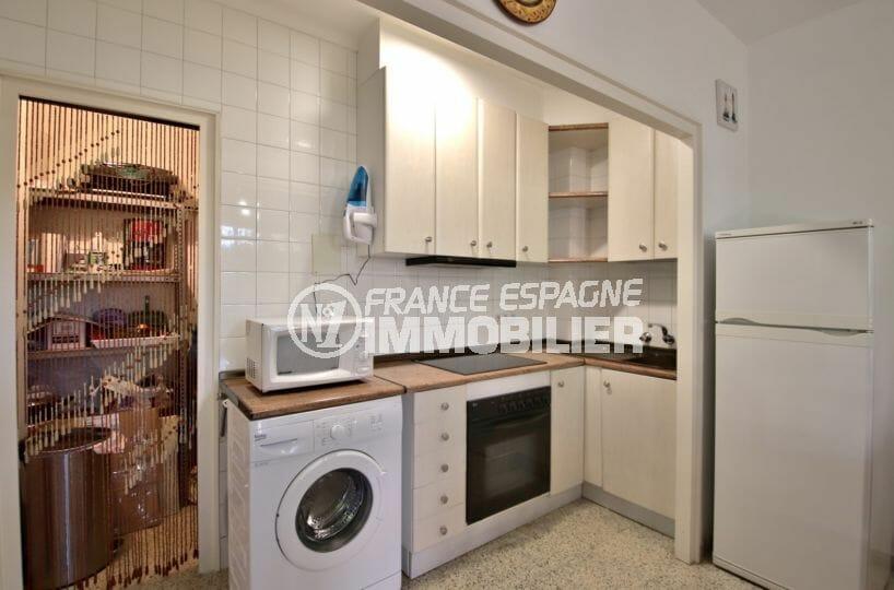 achat appartement santa margarita rosas: appartement 50 m², cuisine équipée + arrière cuisine rangements