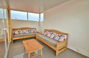immo empuriabrava: appartement 75 m², espace véranda sur terrasse solarium coin détente