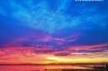 sublime couché de soleil sur la baie de rosas aux environs