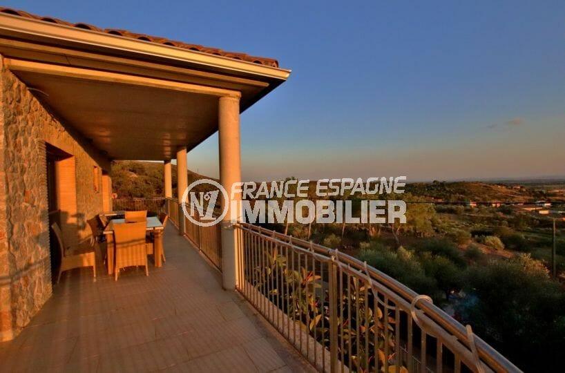 acheter sur la costa brava: villa 500 m², magnifique vue dégagée depuis la terrasse à l'étage