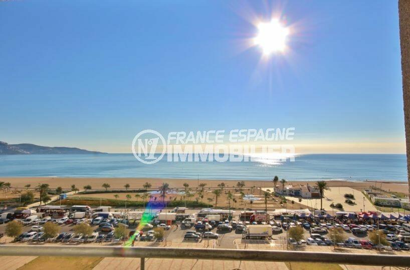 vente empuriabrava: appartement vue mer imprenable, plage à 100 m