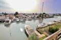 vente appartement rosas, grande terrasse vue marina/mer, piscine et parking privé