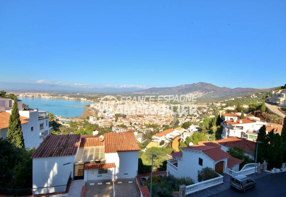vente appartement rosas, 72 m² avec grande terrasse d'angle vue sur mer / montagne