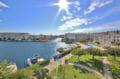 appartement a vendre empuriabrava, belle vue canal, piscine et parking, proche plage