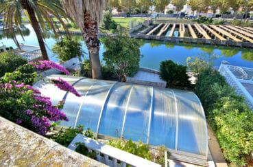 maison a vendre empuriabrava, garage, piscine 10 m x 3 m chauffée avec abris