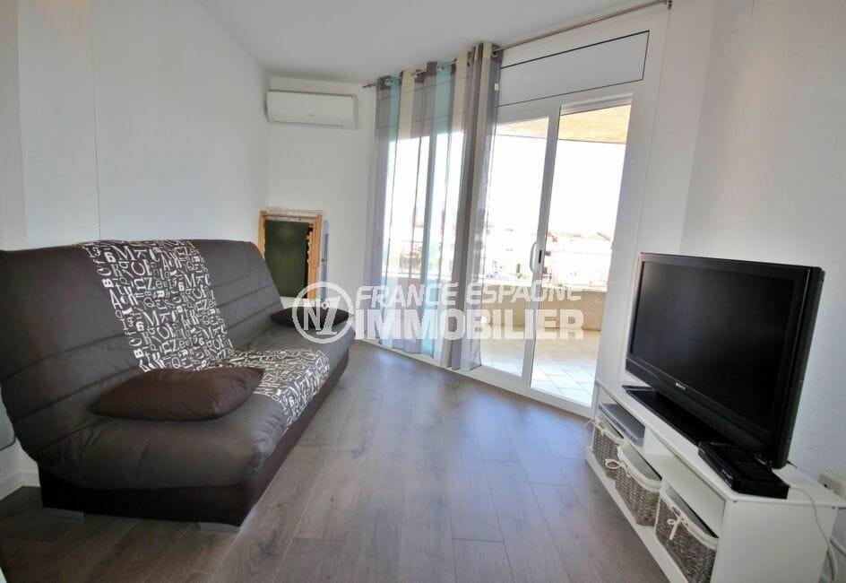 vente appartement empuriabrava, parking, salon / séjour avec accès terrasse