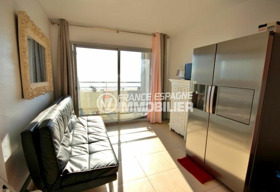 appartement a vendre empuriabrava, 30 m², pièce principale accès terrasse vue dégagée