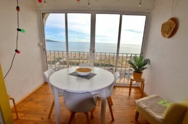 vente appartement empuriabrava, studio 33 m², terrasse véranda avec vue mer imprenable