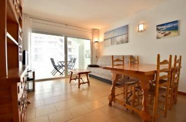 vente appartement rosas: appartement 53 m² avec vue mer, salon/sejour avec acces terrasse de 9 m²